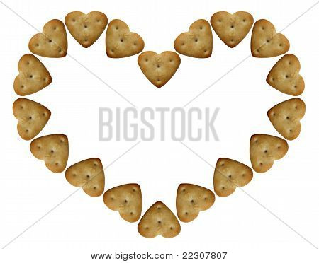 Heart-shaped-cookie