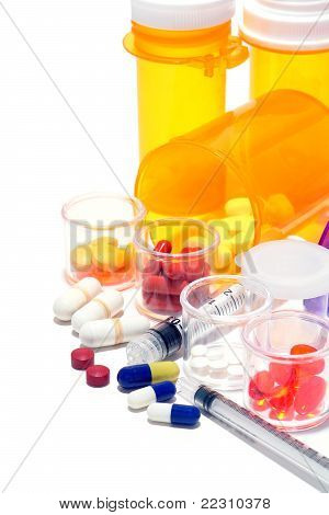 Prescription Medicine Pills And Pharmaceutical Medication