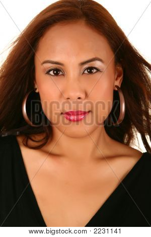Head Shot Of Beautiful Model