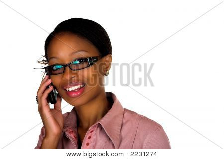 African Lady Cellphone Talking