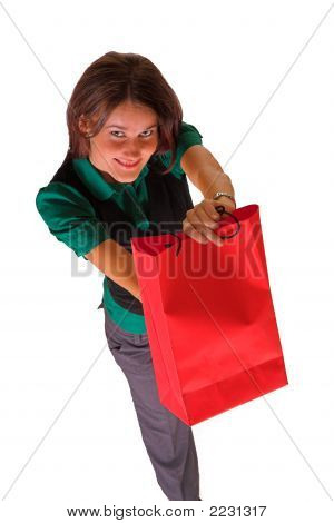 Lady And Shopping Bag