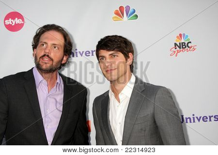 LOS ANGELES - AUG 1:  Silas Weir Mitchell, David Giuntoli arriving at the NBC TCA Summer 2011 All Star Party at SLS Hotel on August 1, 2011 in Los Angeles, CA