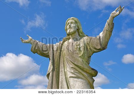 Jesus With Outstretched Arms To Heaven