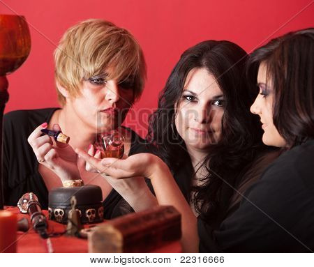 Women With Potion Bottle