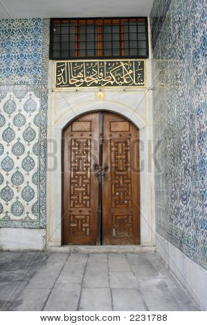 Ancient Door At Topkapi Palace