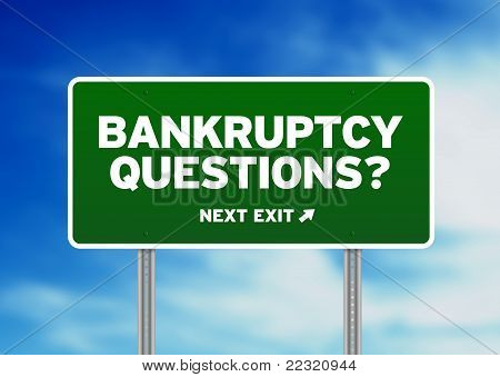Bankruptcy Questions Road Sign