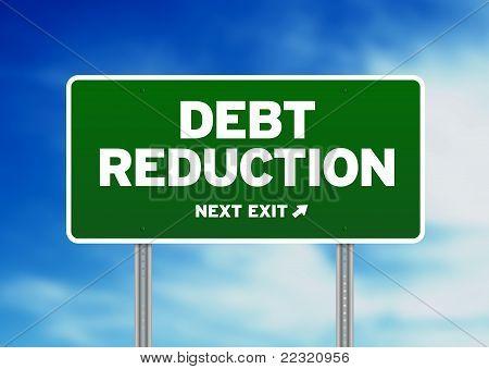 Debt Reduction Road Sign