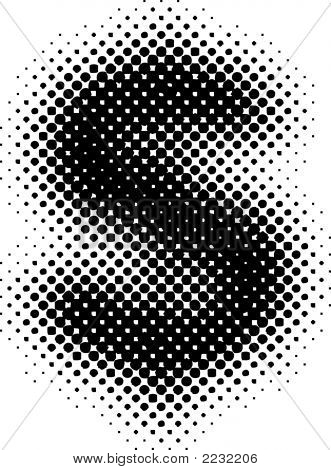 Halftone Sign / Symbol (Vector) - Part Of A Full Alphabet Set