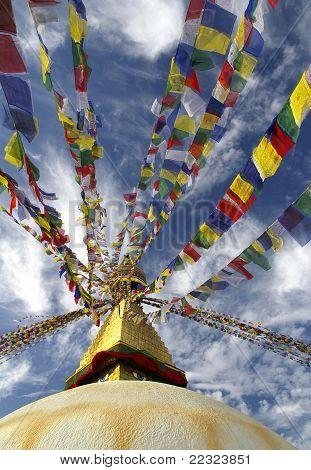 Buddhist Stupa At Kathmandu