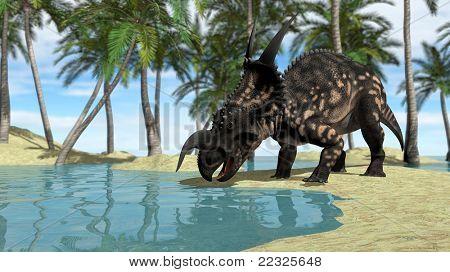 einiosaurus drinking water