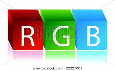 RGB cubes illustration design over white