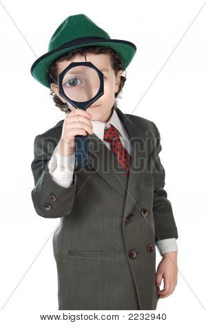 Kid With Magnifying Glass