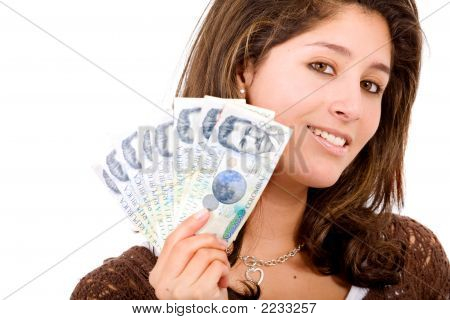 Beautiful Girl With Money