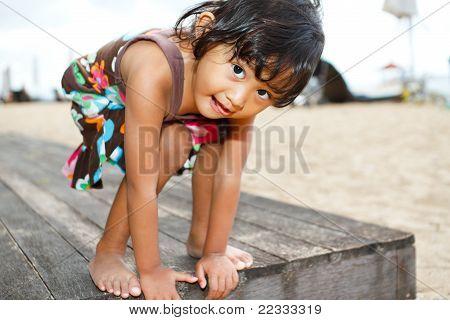 Asian Ethnic Child Fun Portrait