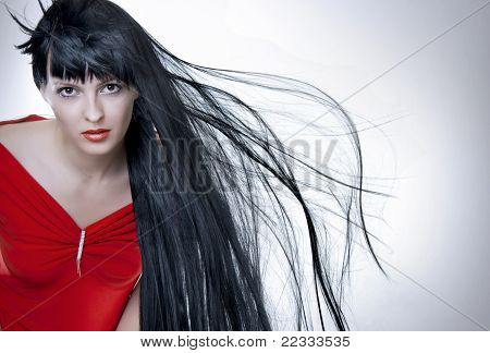 Fashion Portrait Of Attractive Woman