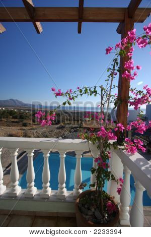 Greek Villa Balcony