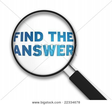 Magnifying Glass - Find The Answer