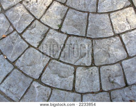 A Close Up Of Some Crazy Paving