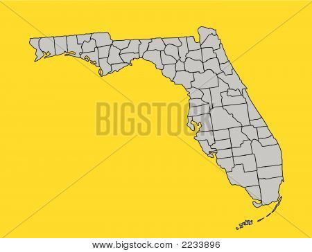 Vector Florida With Counties