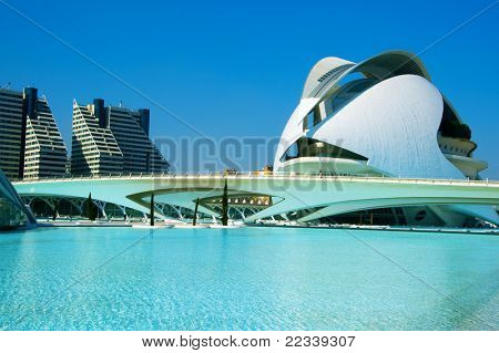 VALENCIA, SPAIN - MARCH 17: Queen Sofia Palace in The City of Arts and Sciences on March 17, 2010 in Valencia, Spain. This opera house, designed by famous Santiago Calatrava, was opened in 2005.
