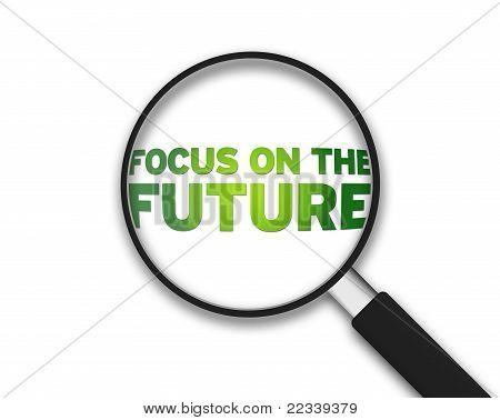 Lupa - enfoque en el futuro