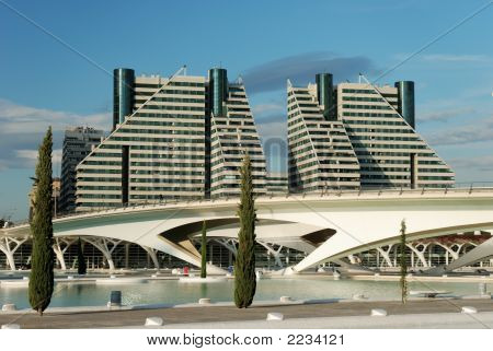 Futuristic Buildings In Valencia, Spain