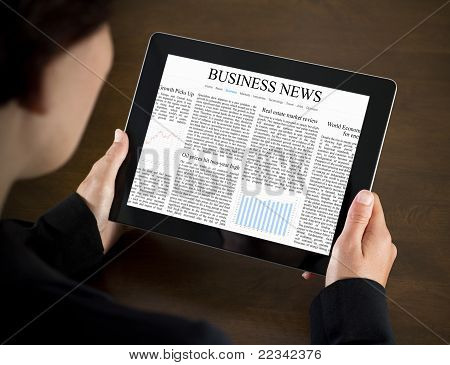 Business-News auf Tablet PC lesen