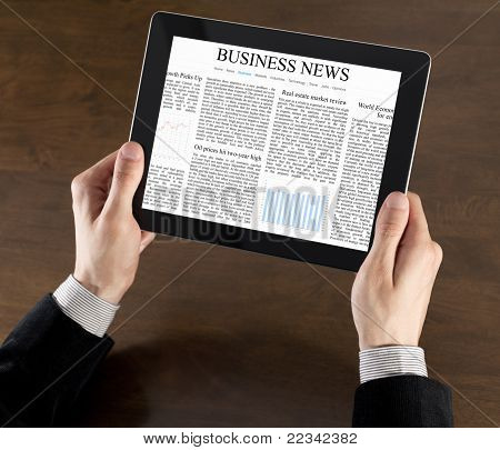 Business-News auf Tablet PC