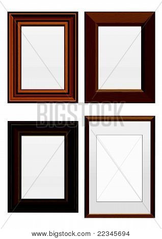Vector illustration set of wooden frames.