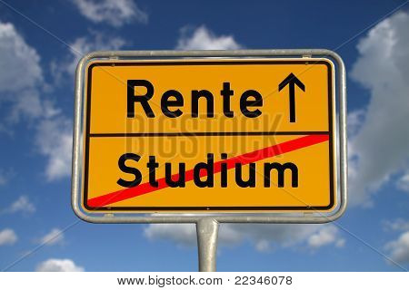 German Road Sign Study And Retirement