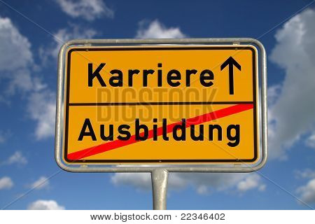 German Road Sign Apprenticeship And Career