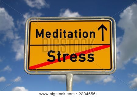 German Road Sign Stress  And Meditation