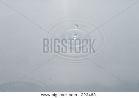 Waterdrop In Pond