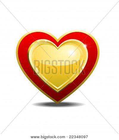 One Heart White Background