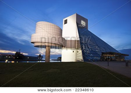 The Rock And Roll Hall Of Fame And Museum In Cleveland, Ohio, Usa.