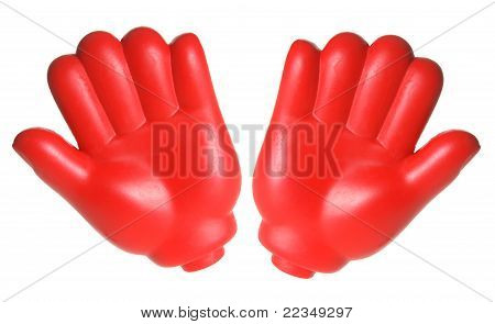 Red Toy Hands