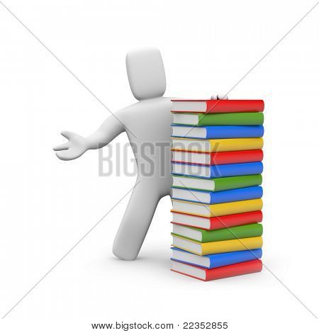 Person with book