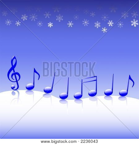Christmas Carol Music On Snow