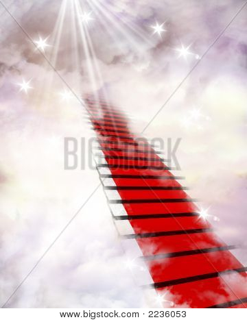 Red Carpet And Clouds