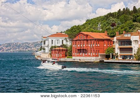Houses On The Bosphorus Strait