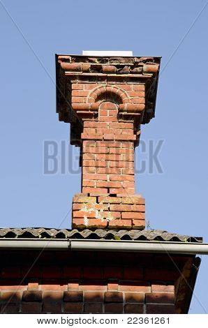 Antique Red Brick Chimney.