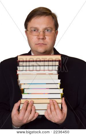 Men With Stack Of Books