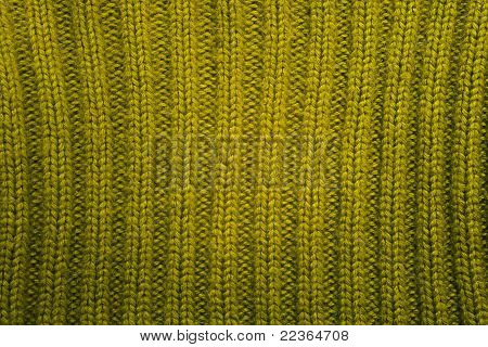 Texture Of Green Knitted Wool Sweater