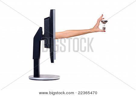 Computer monitor. Concept.