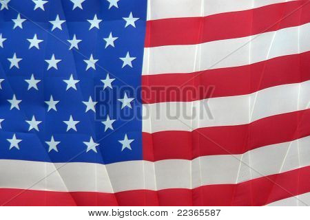 Close-up American Flag Balloon
