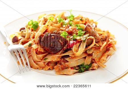 Aubergine With Pasta