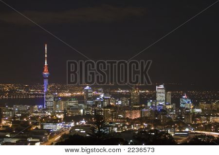Auckland City & Sky Tower At Night