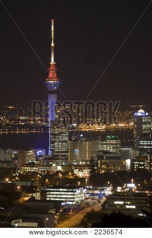 Auckland Sky Tower At Night