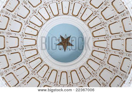 Interior ceiling of Texas capitol rotunda