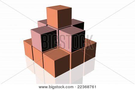 3D geometrical pattern